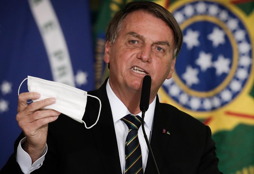 Bolsonaro em cerimônia no Planalto