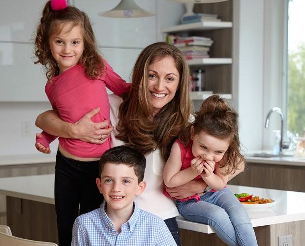 Joanna Parker e filhos (Foto: Divulgação)