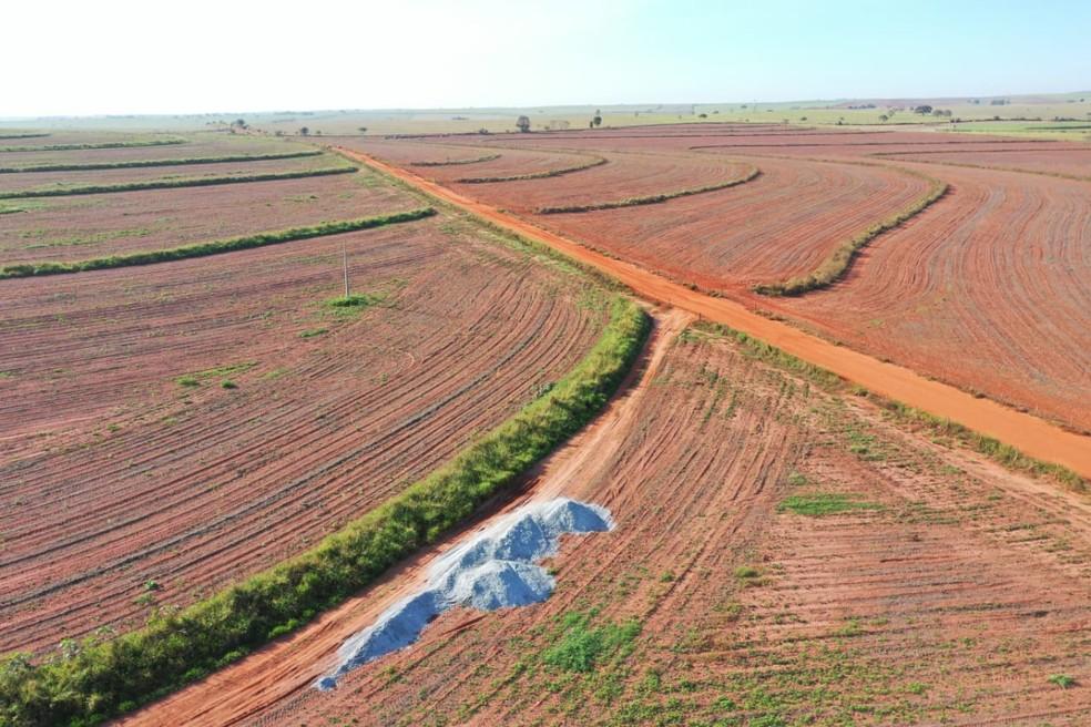 Insumos agrícolas foram desviados de uma usina de álcool — Foto: Polícia Civil
