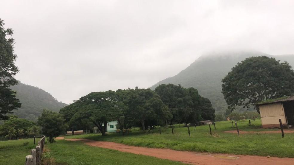 Mau tempo prejudicou buscas por aeronave na Serra do Mangaval, em Cáceres — Foto: Ciopaer/Divulgação