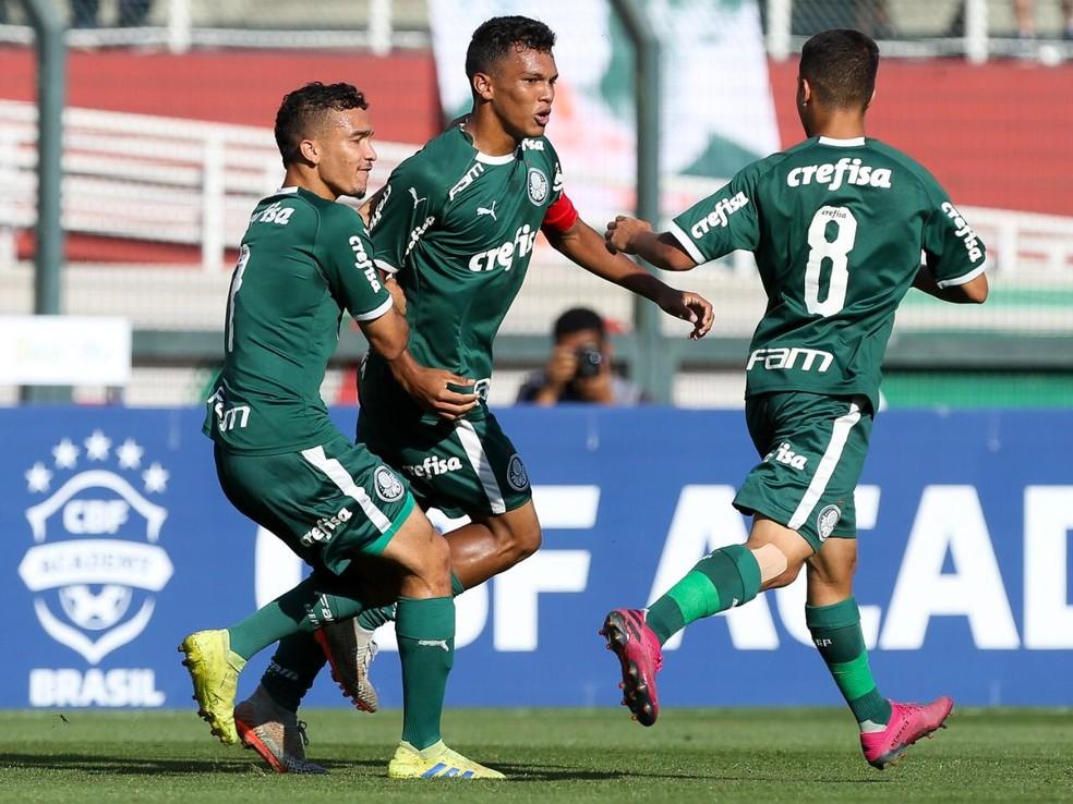 Gabriel Veron marca em vitória sobre o São Paulo na final da Copa do Brasil Sub-17 — Foto: Fábio Menotti/Ag. Palmeiras