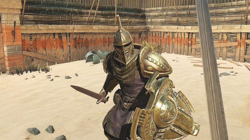 TES Blades diverte, trazendo customização de personagens, armas e armaduras com certa variedade. — Foto: Divulgação/ Bethesda
