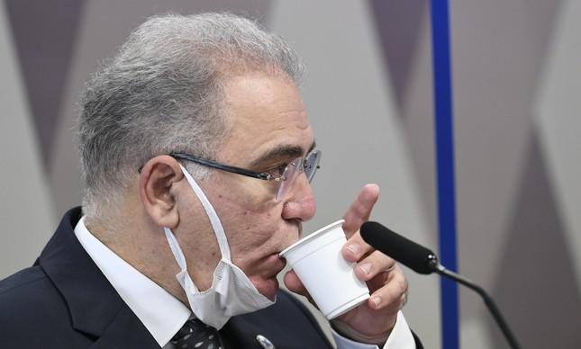 Ministro Marcelo Queiroga na CPI da Covid