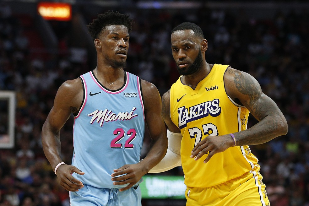 LeBron James e Jimmy Butler - NBA — Foto: Getty Images