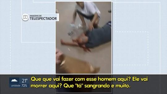 Homem desmaia na porta do hospital do Gama, no DF, e vídeo mostra falta de atendimento