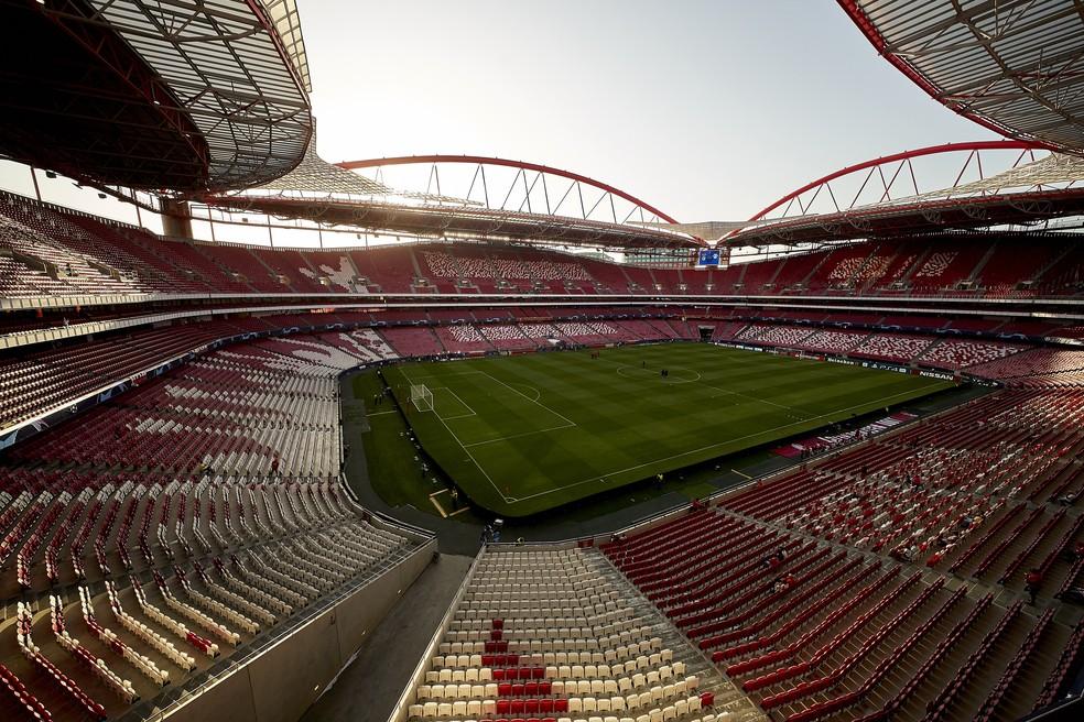Estádio da Luz, casa do Benfica, deve receber a reta final da Liga dos Campeões — Foto: Getty Images