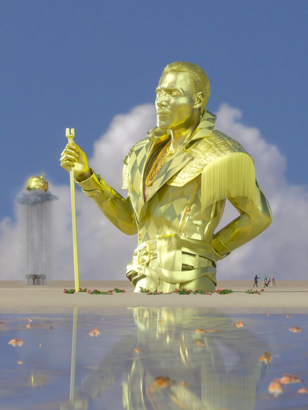 NFTs de Freddie Mercury são leiloadas para instituição de caridade de luta contra Aids — Foto: Mercury Phoenix Trust/SuperRare/Divulgação via REUTERS