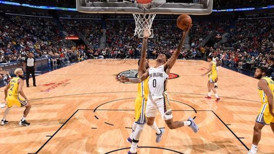Melhores momentos de New Orleans Pelicans 108 x 100 Golden State Warriors pela NBA