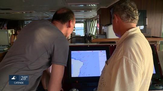 Em parceria com pesquisadores de PE, navio alemão atracado no Recife estuda mudanças nos oceanos