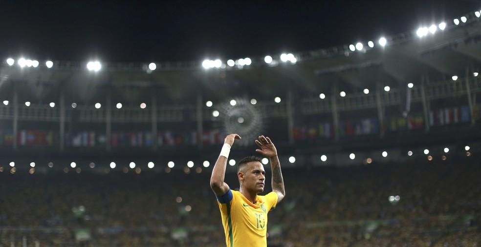 Neymar durante a final da Olimpíada de 2016 no Maracanã — Foto: REUTERS/Ueslei Marcelino