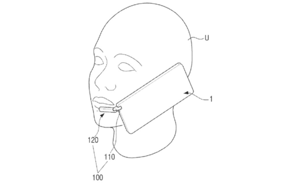 Imagem mostra como funciona o bafômetro acoplado a smartphones, tecnologia patenteada pela Samsung. (Foto: Divulgação/USPTO)