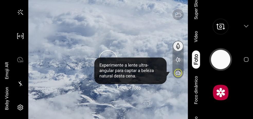 Galaxy S10 Plus: inteligência artificial ensina a tirar fotos melhores — Foto: Reprodução / TechTudo