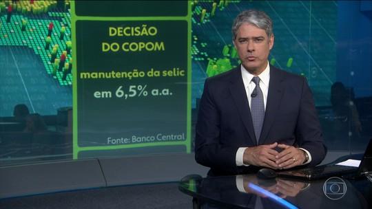 Copom decide manter juros em 6,5% ao ano pela oitava vez seguida