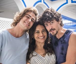 Rafael Vitti, Dira Paes e Jesuíta Barbosa | João Miguel Júnior/ TV Globo