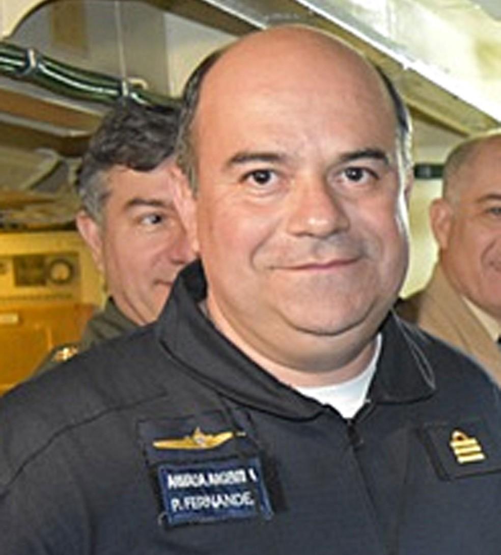 O capitão de fragata, Pedro Martín Fernández, identificado pela imprensa argentina como o comandante do submarino ARA San Juan (Foto: Reprodução/ Poder Judicial de Tierra del Fuego)