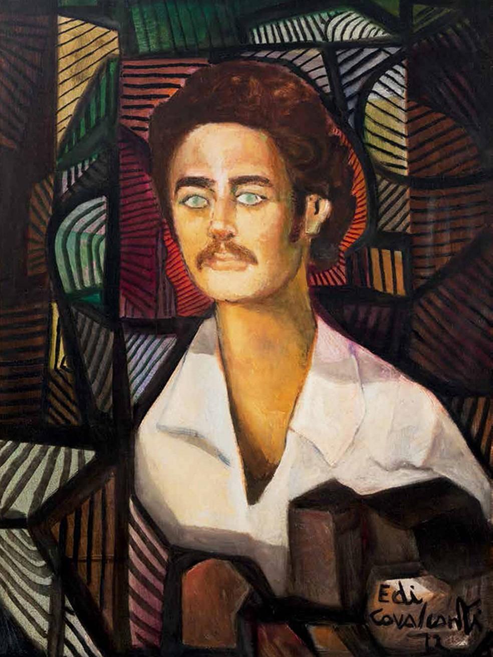 Chico Buarque em 1972 no traço do pintor Di Cavalcanti — Foto: Di Cavalcanti / Reprodução do livro 'Revela-te, Chico'