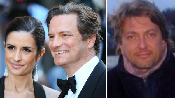 O ator Colin Firth, a produtora de cinema Livia Giuggioli e o empresário Marco Brancaccia (Foto: Getty Images/Reprodução)