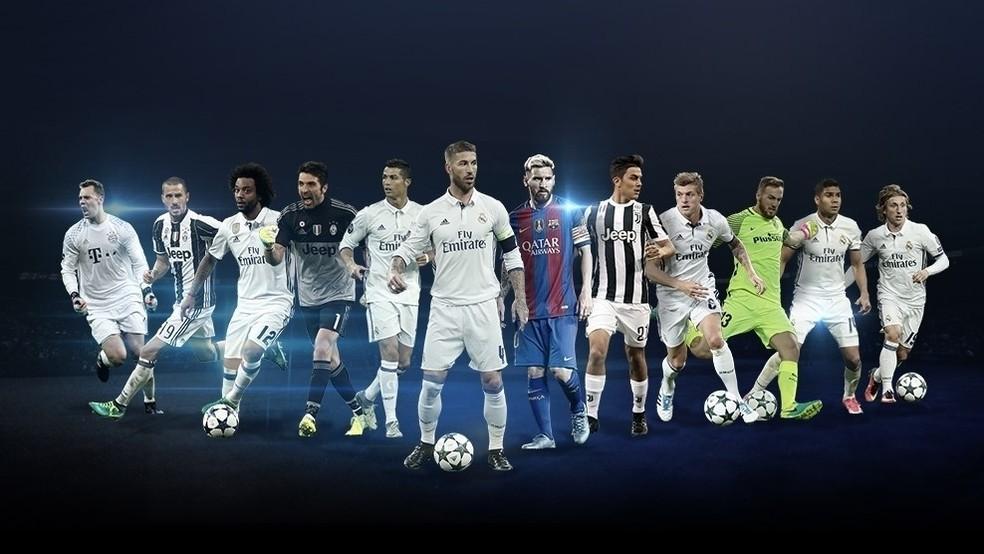 Real Madrid domina a lista de melhores jogadores da Champions 2016/17 (Foto: Reprodução/Site oficial da Uefa)