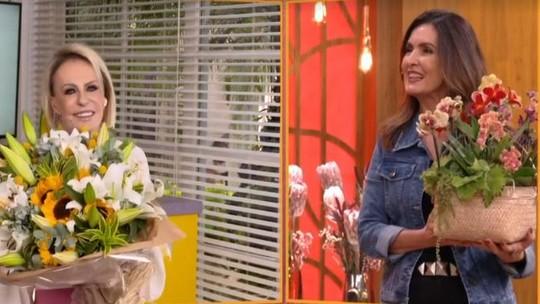 Ana Maria envia flores para Fátima Bernardes e faz agradecimento