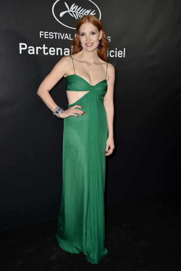 Jessica Chastain no Festival de Cannes 2021 (Foto: Getty Images)