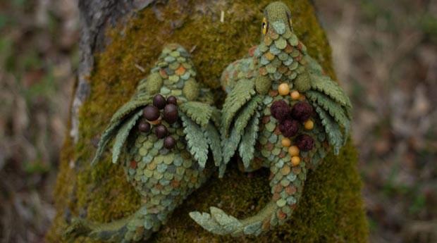 dragão; feltro; artesanato; (Foto: Divulgação)