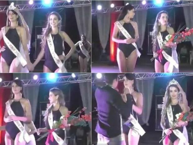 Destrono de Letícia aconteceu durante Miss Rondônia Mundo 2015 (Foto: Reprodução)