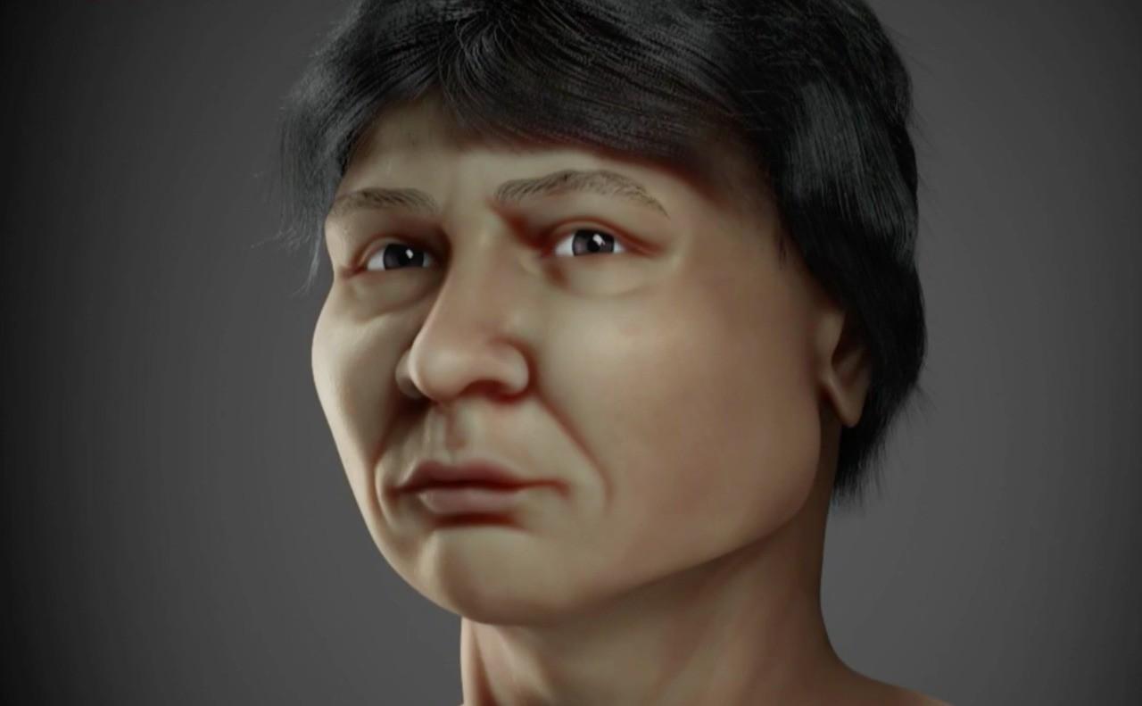 Rosto de homem que viveu há 6 mil anos no Litoral Norte é recriado por computação gráfica