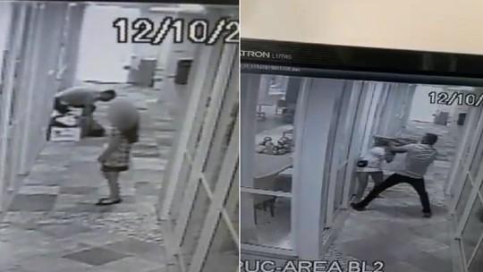 Vídeo flagra sargento da PM agredindo companheira com socos após ser chamado de 'palhaço'