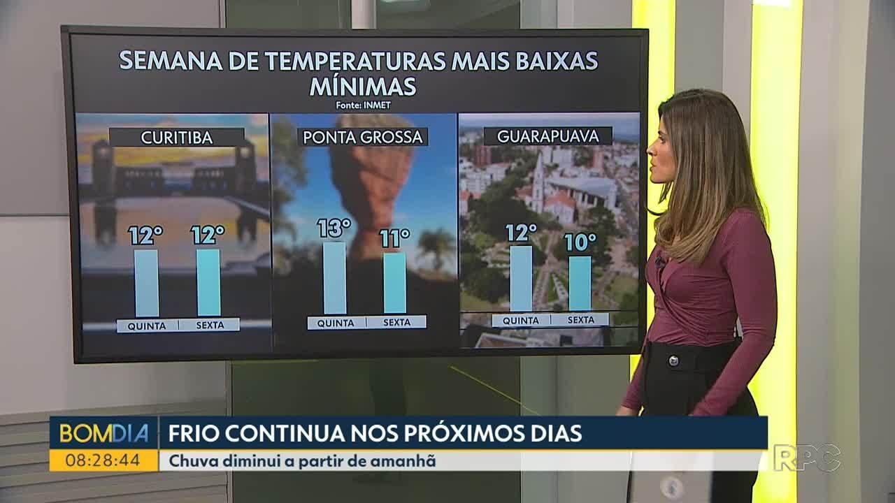 Paraná tem queda de temperatura