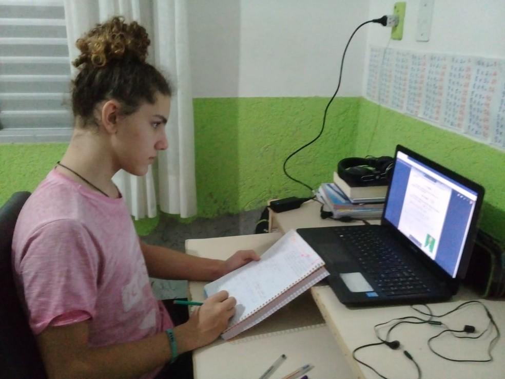 Guilherme Soares Machado estuda na rede municipal de Florianópolis — Foto: Guilherme Soares Machado/Arquivo pessoal
