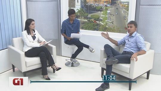 Expedito Junior, candidato do PSDB, é entrevistado no G1 Rondônia
