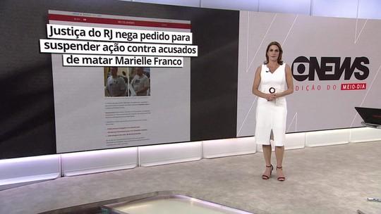 Justiça do RJ nega pedido para suspender ação contra acusados de matar Marielle Franco