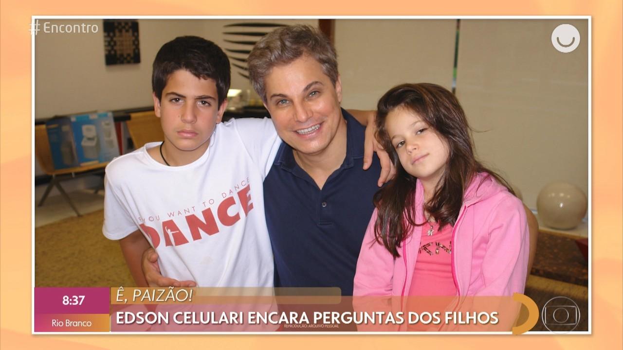 Edson Celulari encara perguntas dos filhos