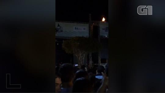 Bombeiros controlam princípio de incêndio em show de Luan Santana no Piauí