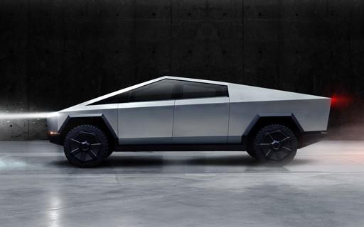 Tesla revela picape elétrica com design futurista