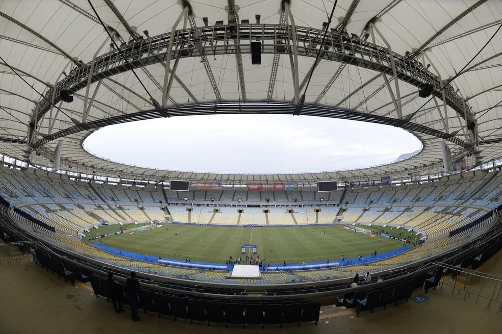 Maracanã antes de Vasco x Fluminense — Foto: André Durão