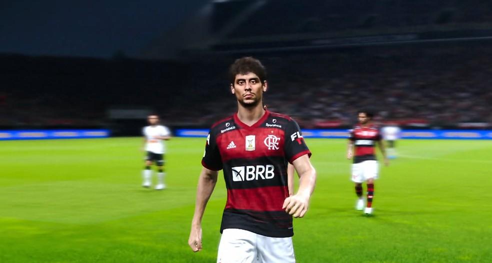 Rodrigo Caio deixando gramado no PES 21 — Foto: Konami