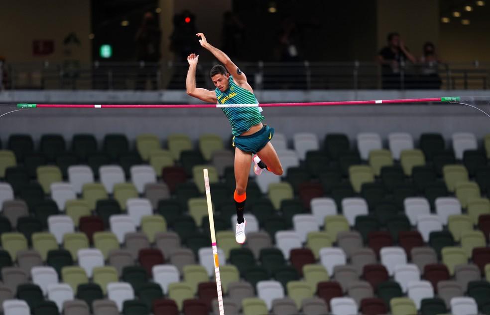 Thiago Braz garante medalha de bronze no salto com vara — Foto: REUTERS/Aleksandra Szmigiel