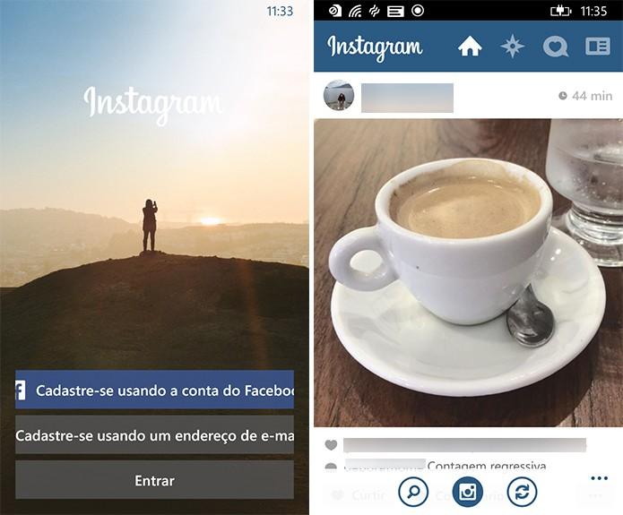 Instagram Beta do Windows Phone não possui todas as funções do iOS e Android (Foto: Reprodução/Elson de Souza)