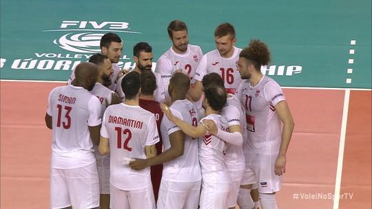 Pontos finais de Civitanova 3 x 0 Al Rayan pelo Mundial de Clubes de vôlei masculino