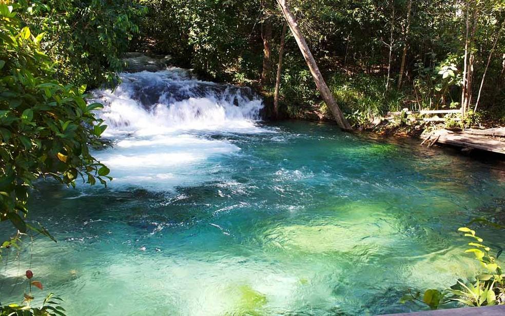 Cachoeira da Formiga é uma das atrações mais visitadas no Jalapão (Foto: Gabriel Castaldini/VC no G1)