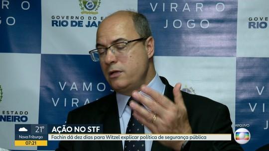 STF dá 10 dias para governador do Rio explicar política de segurança pública