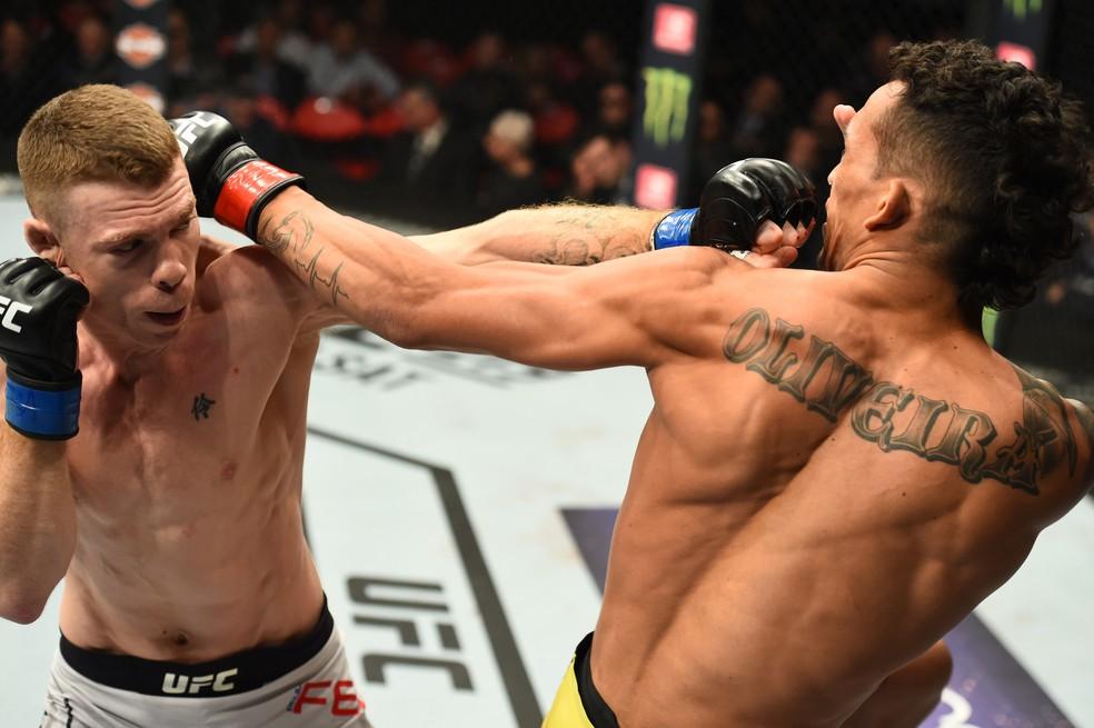Felder venceu Charles do Bronx no UFC 218 — Foto: Josh Hedges/Getty Images
