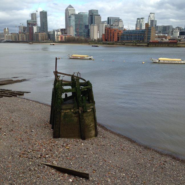 Canary Wharf vista do sul de Londres (Foto: Rodrigo Lebrun)