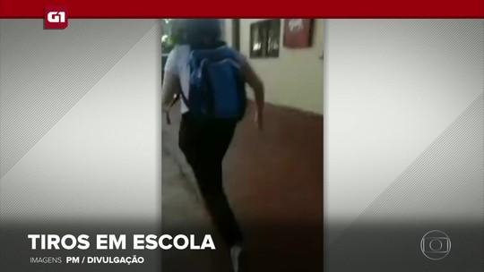 G1 em 1 Minuto: adolescente armado fere dois alunos em escola do Paraná