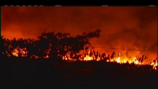 Incêndio é controlado em canaviais entre Uberaba e Conceição das Alagoas