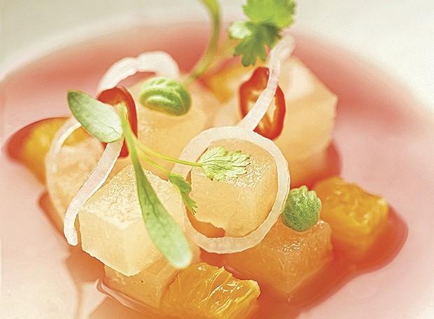 Ceviche de pera (Foto: Carol Gherardi)