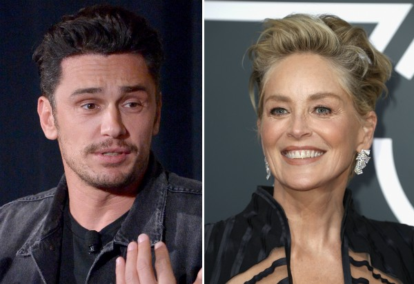 O ator James Franco e a atriz Sharon Stone (Foto: Getty Images)