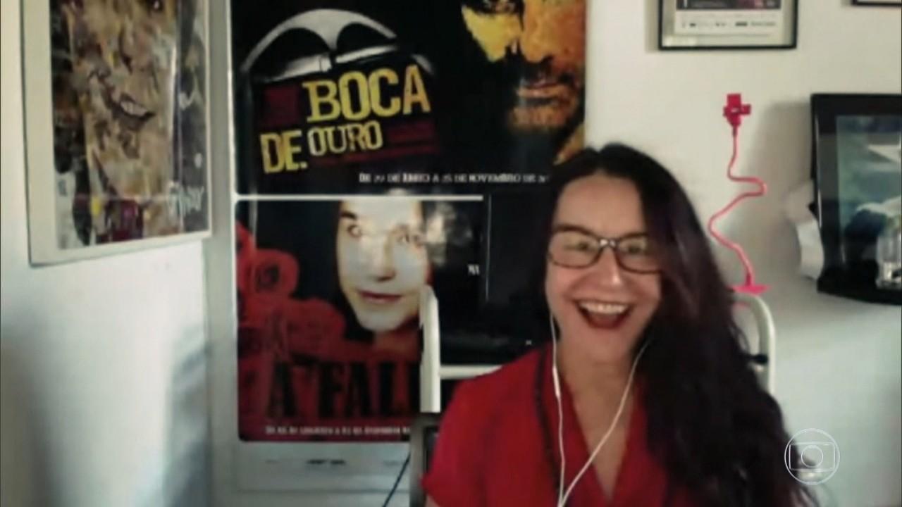 Bial conversa com Lucélia Santos
