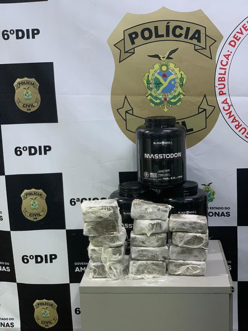 Homem é preso com 14 tabletes de maconha que seriam levados para aeroporto de Manaus, diz polícia - Notícias - Plantão Diário